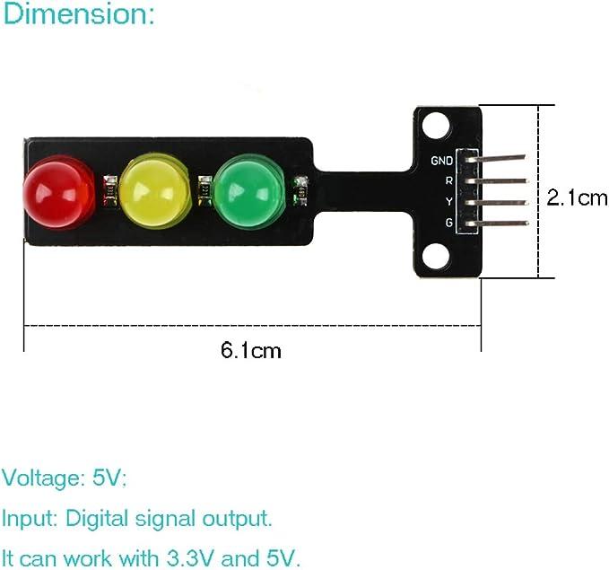 5PCS 5V Traffic Light LED Display Module for Arduino Digital Signal Output NEW