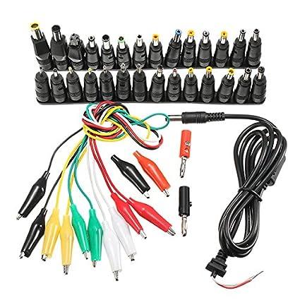 37 Unidades Universal AC DC Jack Cargador Conector AC Fuente de alimentación para Ordenador portátil con