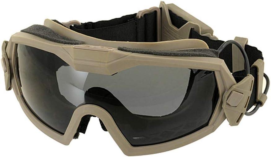 FMA Gafas protectoras con caja y lentes adicionales, color negro, protección antivaho