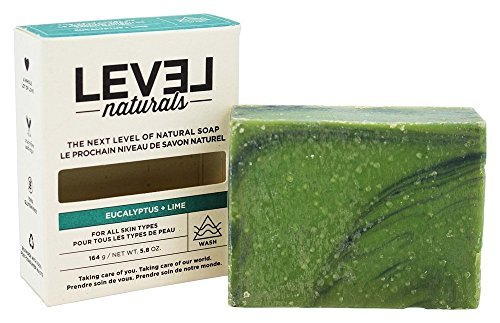 Level Naturals - Cruelty-Free and All-Natural Bar Soap - 5.8 oz. (Eucalyptus Lime) (Level Naturals Body)