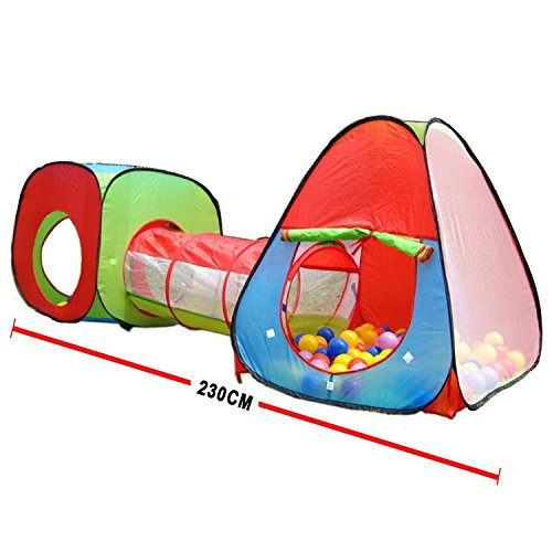 Roadacc (TM) One Square Cubby-One Triangle Cubby-One Tunnel 3 in 1 Children's Playground. Play Tent House and