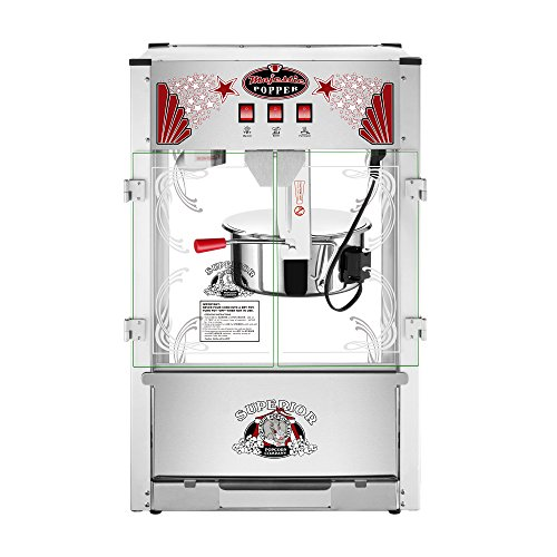 Majestic Popcorn Machine- Commercial Style Popcorn Popper Machine-Makes Approx. 7.5 Gallons Per Batch by Superior Popcorn (16 oz.) by Superior Popcorn Company (Image #1)