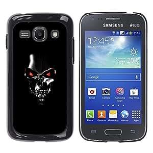 TECHCASE**Cubierta de la caja de protección la piel dura para el ** Samsung Galaxy Ace 3 GT-S7270 GT-S7275 GT-S7272 ** Robot Skull Black Scary Movie Technology