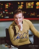 William Shatner Signed / Autographed Star Trek TOS 8x10 Glossy Photo As Captain James T. Kirk. Includes FANEXPO Certificate of Authenticity and Proof. Entertainment Autograph Original.