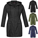 Hanna Nikole Women Plus Size Lightweight Raincoat Travel Hoodie Rain Jacket HN0037