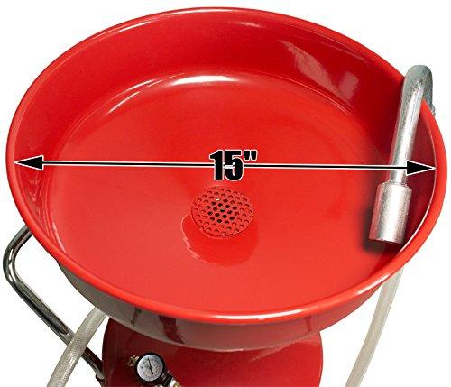Dragway Tools 18 Gallon Oil Waste Drain Tank Pan for Lift Jack Hoist Shop Crane by Dragway Tools (Image #4)