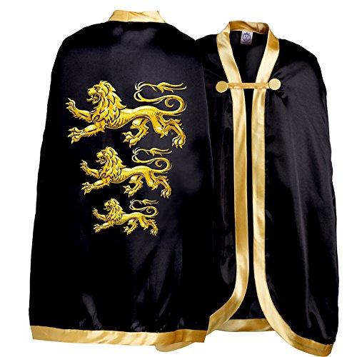 Liontouch King's Cape Triple Lion, Gold/Black, One -