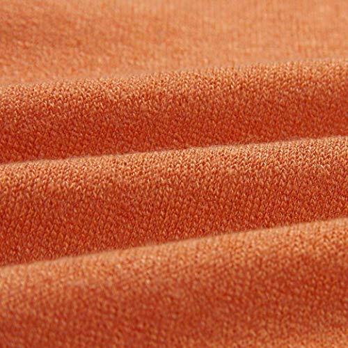 Arancia Anteriori Casual Maglia Donna A Autunno Moda Giovane Giorno Manica Tasche Lunga Grazioso Giacca Maglie Lunghi Maglioni Giubotto Stlie Monocromo Irregular PwP14Rq