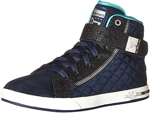Skechers Kids Girls' Shoutouts-Quilted Crush Running Shoe,Navy,