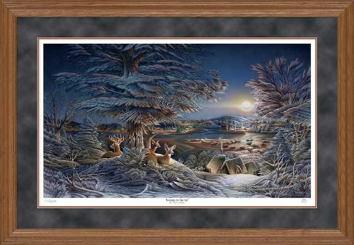 Wild Wings Evening on The Ice Framed Limited Edition Print by Terry Redlin