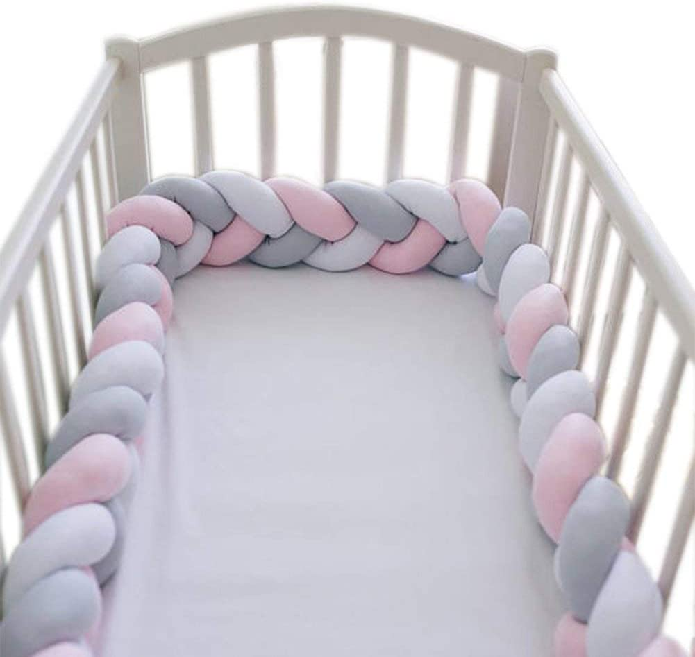 MCKOD Baby Crib Bumper Chunky Knit Braided Baby Bedding Sheets Plush Nursery Cradle Decor Soft Microfiber Polyester Color : Navy, Size : 100cm//39inch