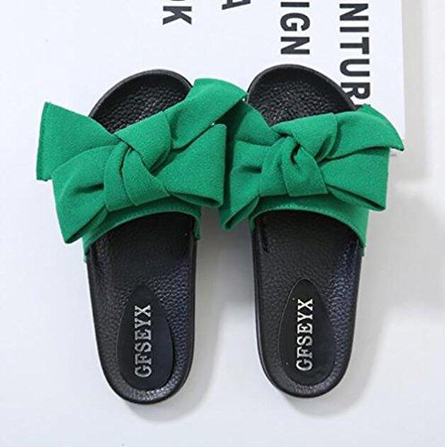 SHANGXIAN Plage Arc Pantoufles Été Green Sandale Mode 37 Nouveau Femmes Casual Tongs HqIrwxHA
