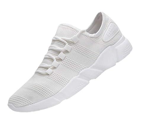 Huateng Zapatillas de Deporte, Zapatos de Playa con Cordones Zapatillas de Deporte con Punta Redonda para Hombre: Amazon.es: Zapatos y complementos