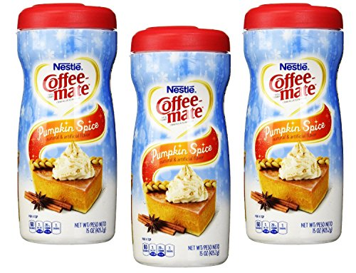 Nestle Coffee-mate Pumpkin Spice Powdered Non-Dairy Creamer, 15 oz (Pack of 3) (Coffee Mate Pumpkin Spice compare prices)