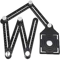 Multi Angle Measuring Ruler Premium Aluminum Alloy Template Measurement Tool Layout Template Tool for Professional Carpenter Craftsman Builder Handyman Upfitters DIY-ers