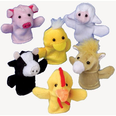 Farm Animal Finger Puppets - 12 pieces Everready First Aid UST1464
