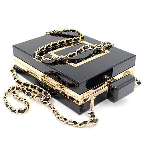 Clutch Handbag Evening Purses Banquet Vintage Bags Shape Perfume Black Acrylic UXWZqA8U