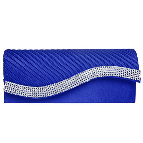 Royal Blue Satin Rhinestone - 2