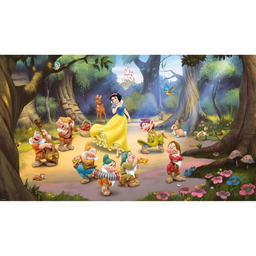 Cheap  RoomMates JL1281M Ultra-Strippable Snow White and The Seven Dwarfs Mural, 6-Feet x..