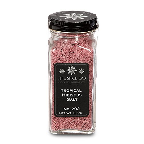 The Spice Lab No. 202 - Tropical Hibiscus Salt - Gluten-Free Non-GMO All Natural Premium Gourmet Salt - French (Hibiscus Spice)