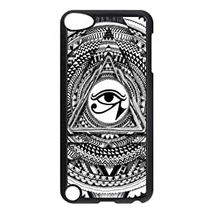 Pyramid Illuminati Don't Trust Anyone Triangle Protective Hard PC Back Fits Cover Case for iPod Touch 5, 5G (5th Generation)