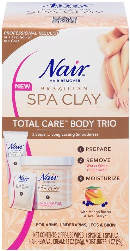 Nair brésilien Spa Clay Total Care Body Trio, 12 onces