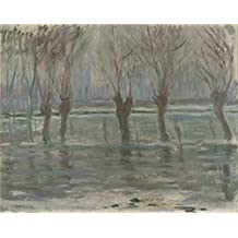 'Claude Oscar Monet Flood Waters ' Oil Painting, 24 X 30 Inch / 61 X 77 Cm ,printed On High Quality Polyster Canvas ,this Amazing Art Decorative Prints On Canvas Is Perfectly Suitalbe For Nursery Decor And Home Decor And Gifts