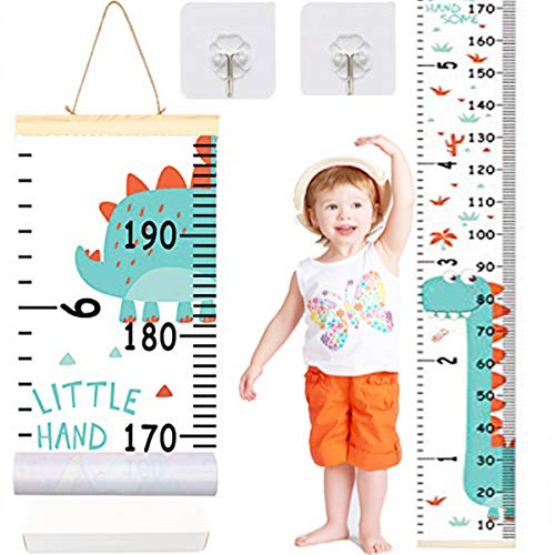 - Brand New Baby Growth Chart Marked Kids Height on The Chart, Canvas Removable Durable Bedroom Nursery Handing Ruler Wall Decor 79
