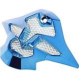 Shoei VFX-W Chrome Sleek Mouth Piece Motorcycle Helmet Accessories - Blue/One Size