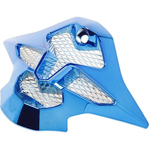 Helmet Replacement Mouthpiece (Shoei VFX-W Chrome Sleek Mouth Piece Helmet Accessories - Blue/One Size)