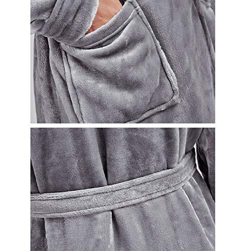 Per Caviglia colore Gray Dimensioni Xl In Lana Accogliente Alla Cappuccio Nan Vestibilità m Accappatoio Liang Donna Con Morbida Cotone Red L Xxl Turco H7WPxw1B