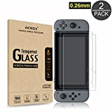 (2-Pack) Tempered Glass Screen Protector for Nintendo Switch 2017, Akwox [...