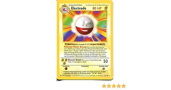 NM Pokemon Card Electrode 21//102 Base Set Rare