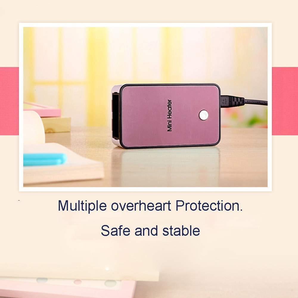 Glowjoy Mini chauffage portable en c/éramique /à /économie d/énergie 200 W Protection contre la surchauffe pour le camping le bureau et le salon noir