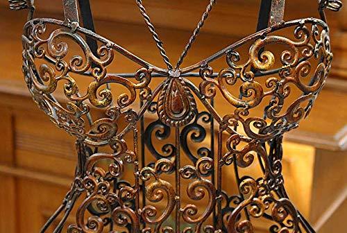 Schneiderpuppe Metall Schmiedeeisen Schaufensterpuppe Schneiderbüste antik Stil