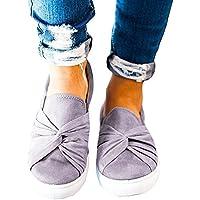 Blivener Women's Loafers Slip On Flatform Top Ruched Knot Fashion Sneaker