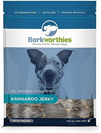 Barkworthies All Natural Dog Treats – Protein Rich Kangaroo Jerky Dog Treats