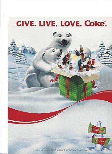 NT For Coca Cola 2005 Give Live Love Christmas Polar Bears (Coca Cola Magazine)