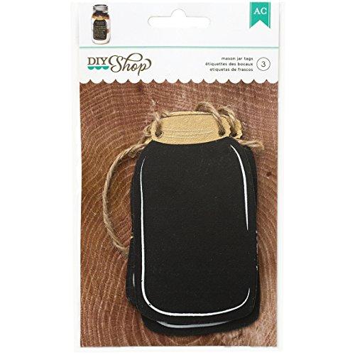 American Crafts 369007 DIY2 Chalkboard Mason Jar Tags