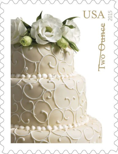 USPS Wedding Cake Two Ounce Forever Stamps - Sheet of (Wedding Cake Stamp)
