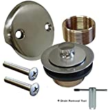 Moen T90331p Push N Lock Tub And Shower Drain Kit With 1 1