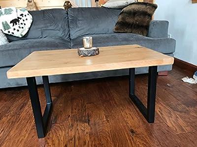 "Cedar Coffee Table with BLACK Tubular Steel Legs - 34"" x 22"" x 18"" or 48"" X 24"" X 18"""