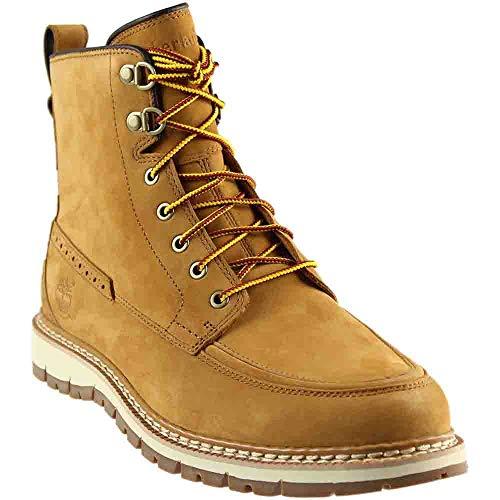 - Timberland Men's Britton Hill Waterproof Moc Toe Boot Wheat Nubuck 7.5 D US