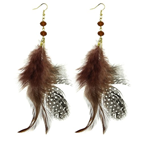 Lux Accessories Birds Of A Feather Flock Together Polka Dot Beaded Dangle Earrings (Birds Of A Feather Flock Together Proverb)