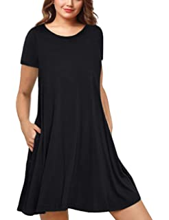 993c0c811d2c8 AMZ PLUS Womens Plus Size Casual Boho Sundress Summer Sleeveless Dresses