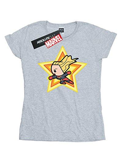 shirt Sport Marvel Gris Kawaii Femme Captain T qPwIUBw