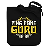 Teeburon Ping Pong GURU Canvas Tote Bag