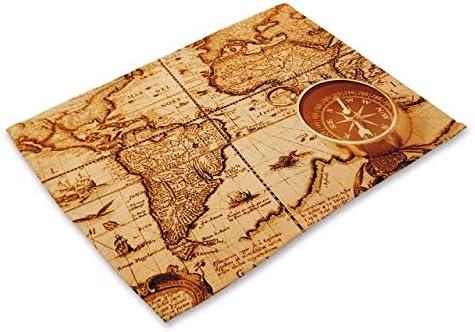 Compra FBZG Tapete De Mesa Mapa del Mundo Impreso Manteles para ...