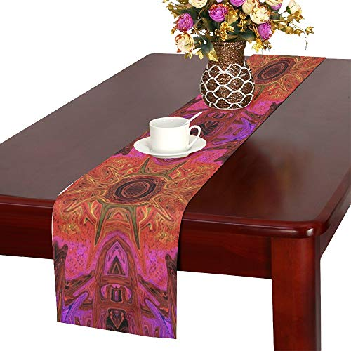 Jnseff Pattern Abstract Art Decoration Artistic Shape Table Runner, Kitchen Dining Table Runner 16 X 72 Inch For Dinner Parties, Events, Decor -