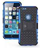 iPhone 6S Case, iPhone 6 Case by Cable and Case - [Heavy Duty] Tough Dual Layer 2 in 1 Rugged Rubber Hybrid Hard/Soft Impact Protective Cover [with Kickstand] Shipped from The U.S.A. - Blue